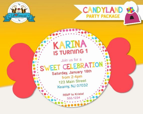 Free Printable Candyland Invitations Fresh 8 Best Sweet Shop Candyland Party Images On Pinterest