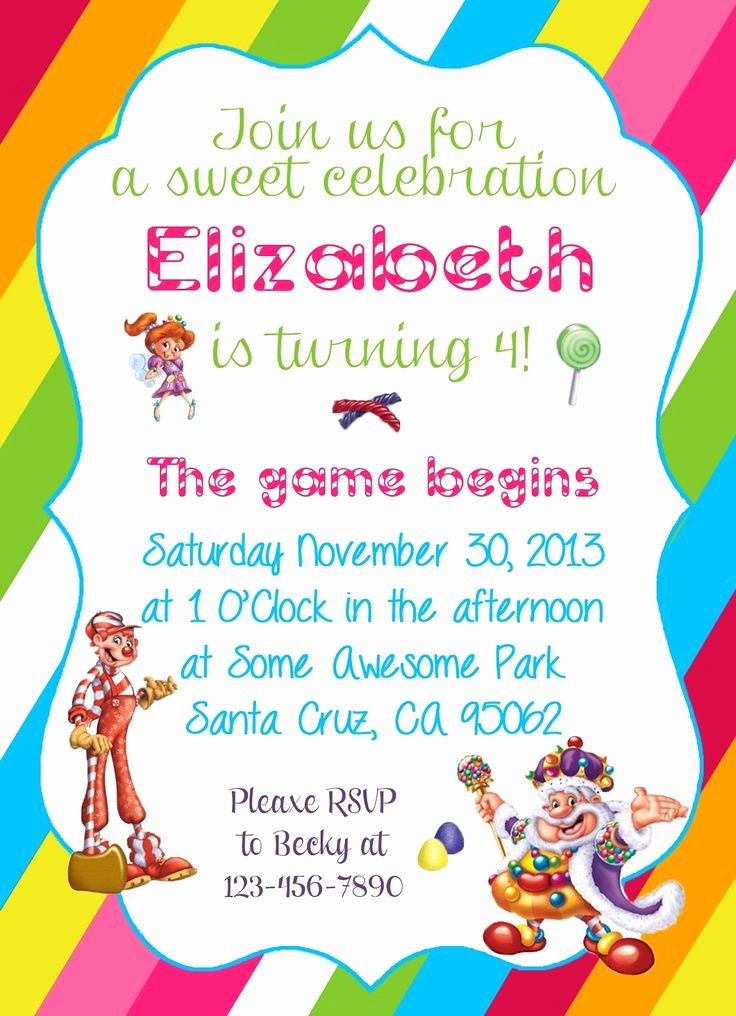 Free Printable Candyland Invitations Fresh Diy Design Den Free Candyland themed Party Printable