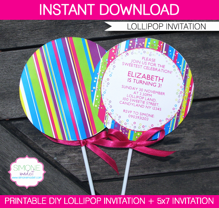 Free Printable Candyland Invitations Inspirational Lollipop Invitation New In My Candyland Printable