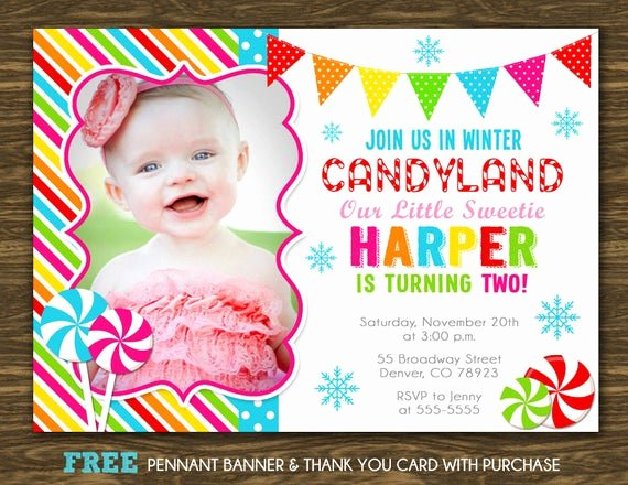 Free Printable Candyland Invitations Lovely Items Similar to Winter Candyland Birthday Invitation
