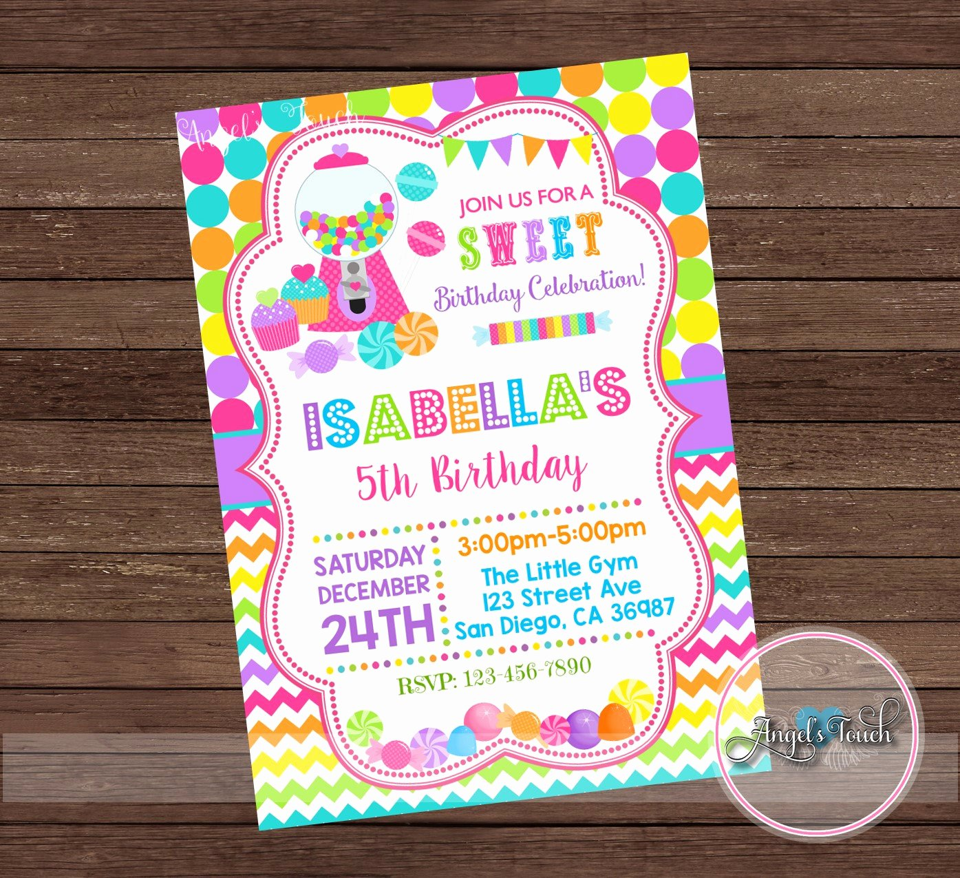 Free Printable Candyland Invitations Luxury Candyland Party Invitation Candy Land Birthday Invitation