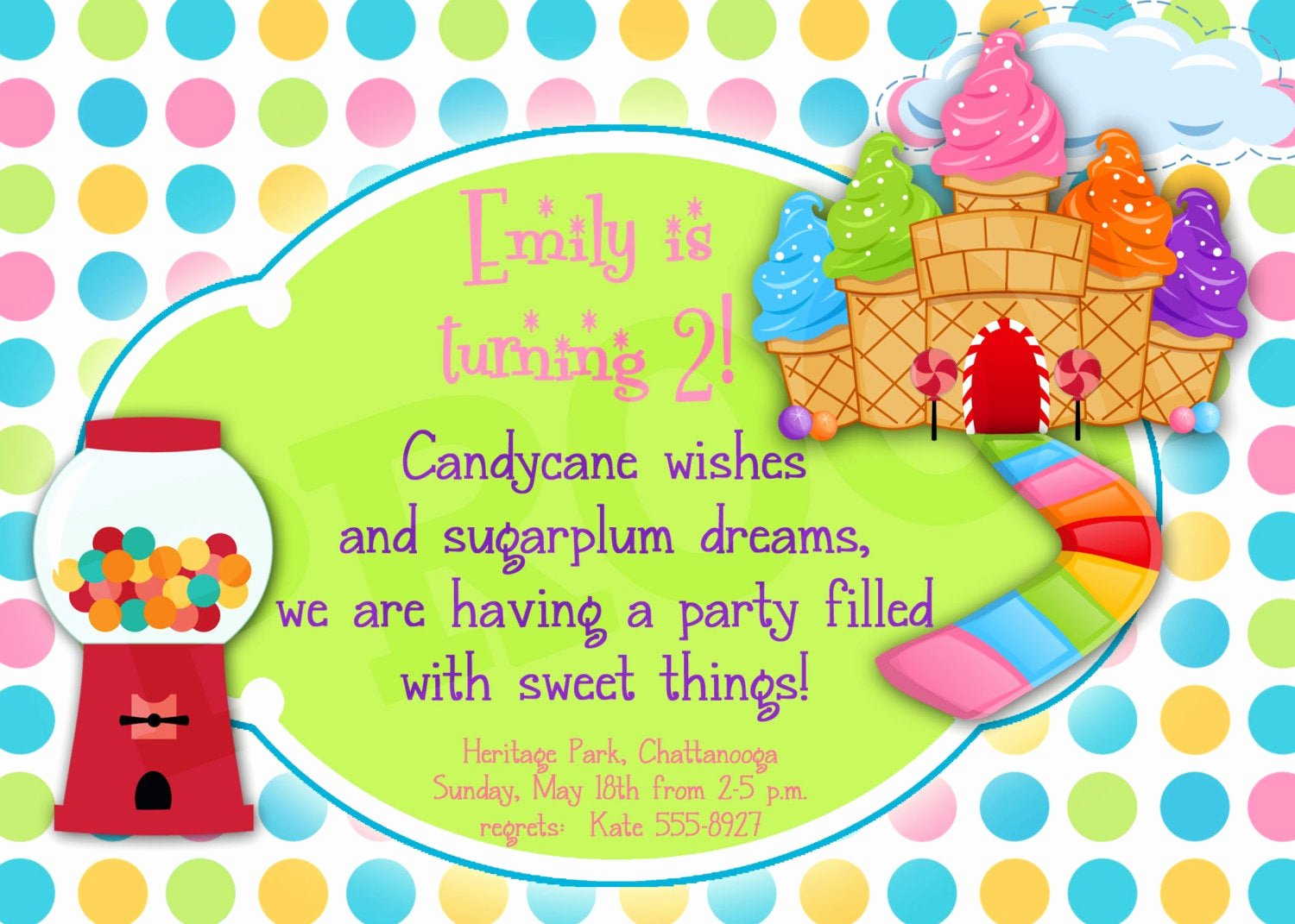 Free Printable Candyland Invitations Luxury Printable Candyland Birthday Printable Invitation Girl Party