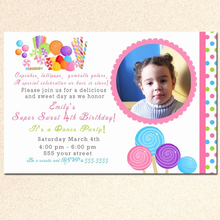 Free Printable Candyland Invitations Unique Printable Candy Candyland Birthday Baby Shower Invitations