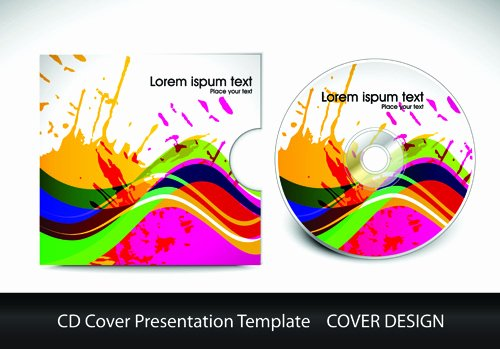 Free Printable Cd Cover Template Luxury Cd Cover Presentation Vector Template Material 03 Free