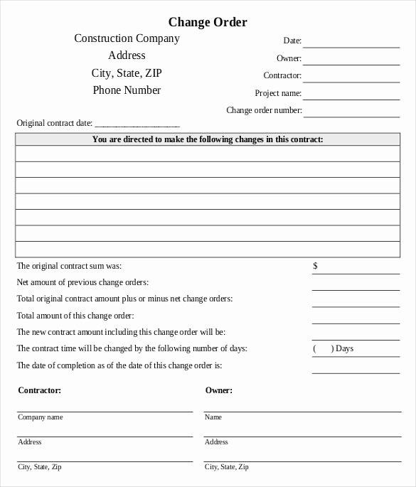 Free Printable Change order forms Luxury 24 Change order Templates Word Pdf Google Docs