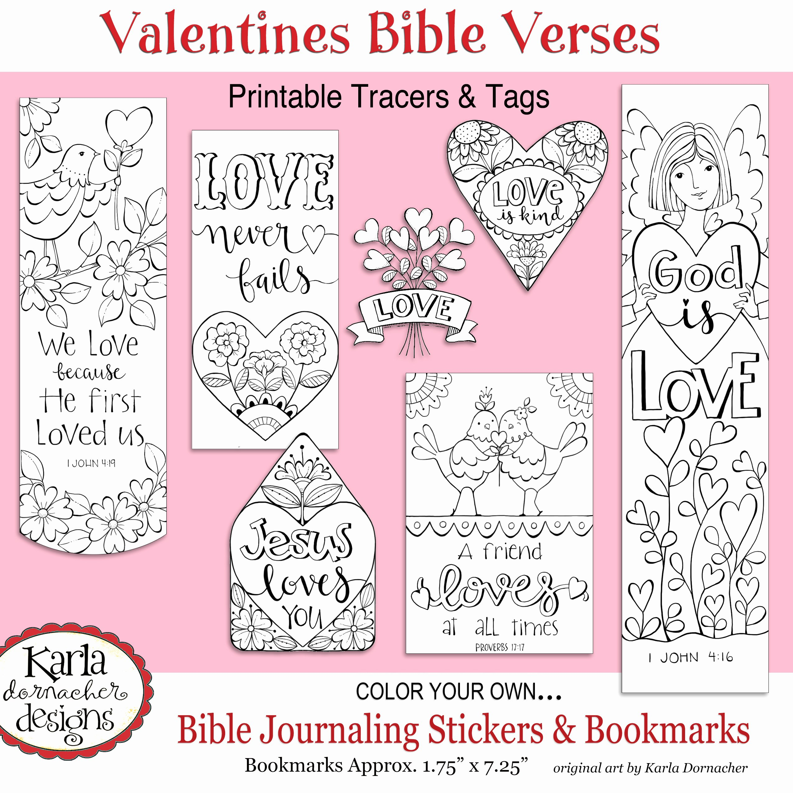 Free Printable Christian Bookmarks Best Of Valentine Love Bible Journaling Printable Coloring Collection