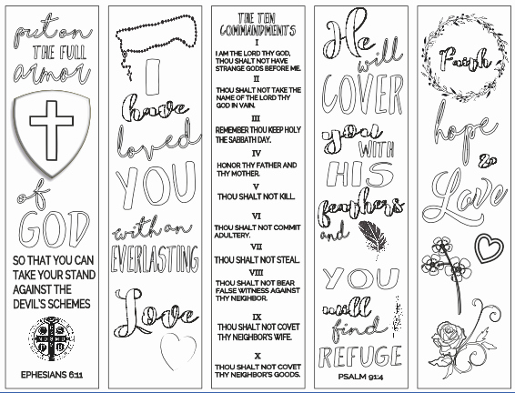 Free Printable Christian Bookmarks Elegant 65 Fun Blank Bookmarks to Color for You