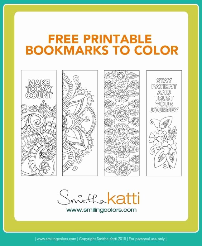 Free Printable Christian Bookmarks Inspirational Free Printable Bookmarks to Color Adult Coloring Pages