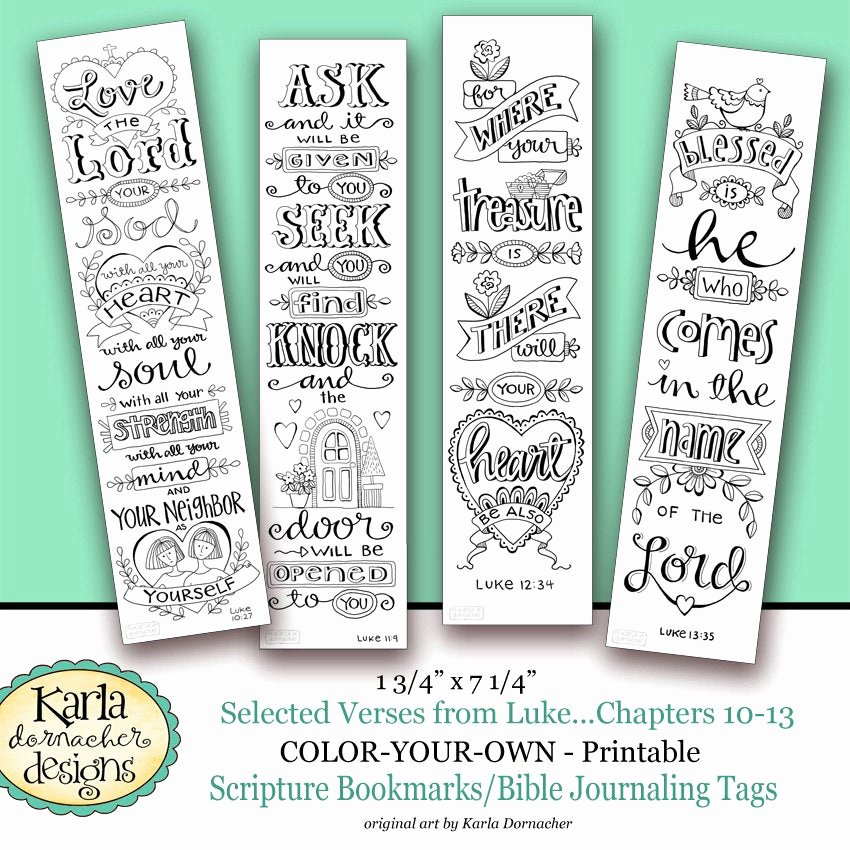 Free Printable Christian Bookmarks New Luke 10 13 Color Your Own Bookmarks Bible Journaling