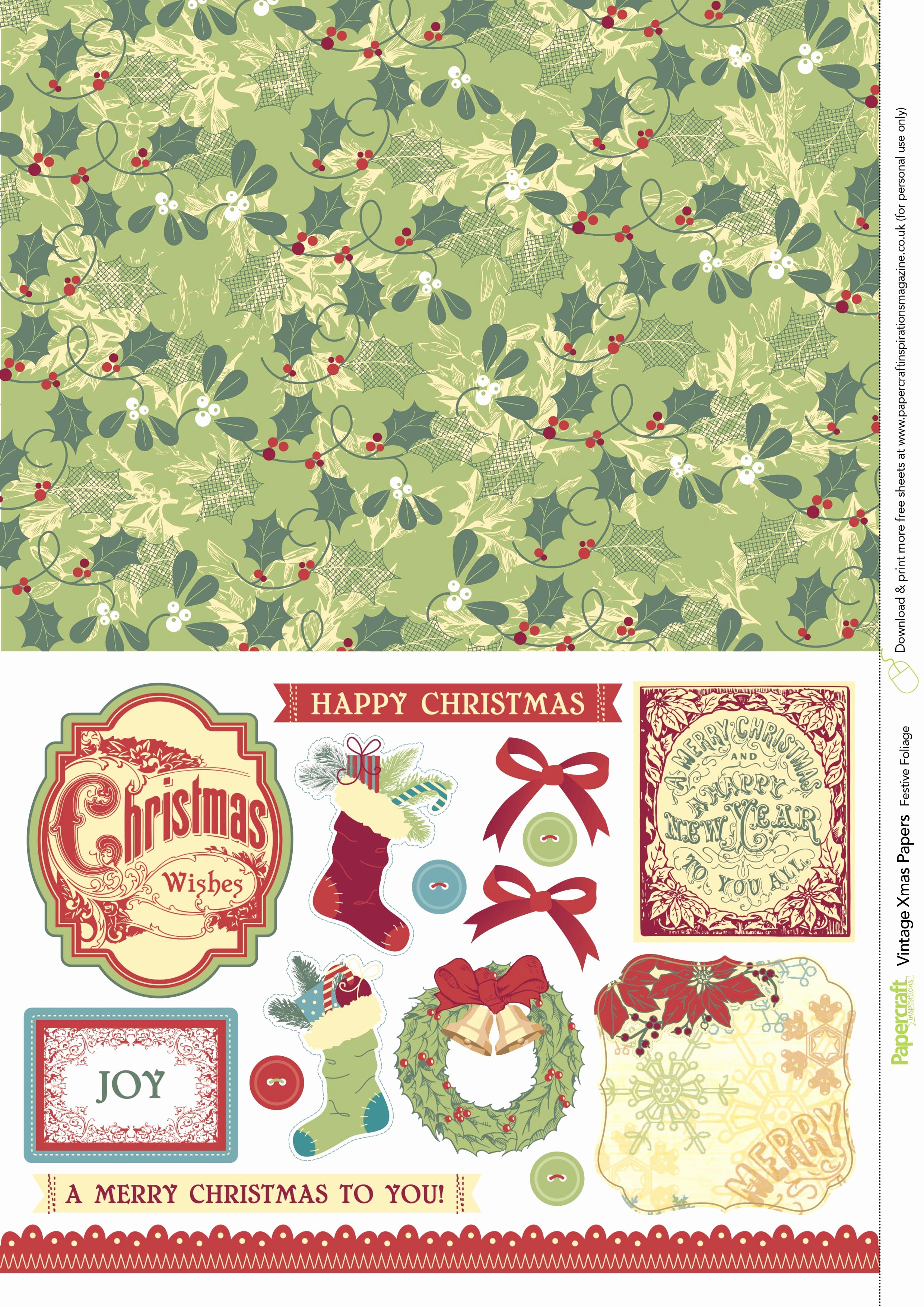 Free Printable Christmas Paper Awesome Vintage Christmas Free Printable Papers From Papercraft