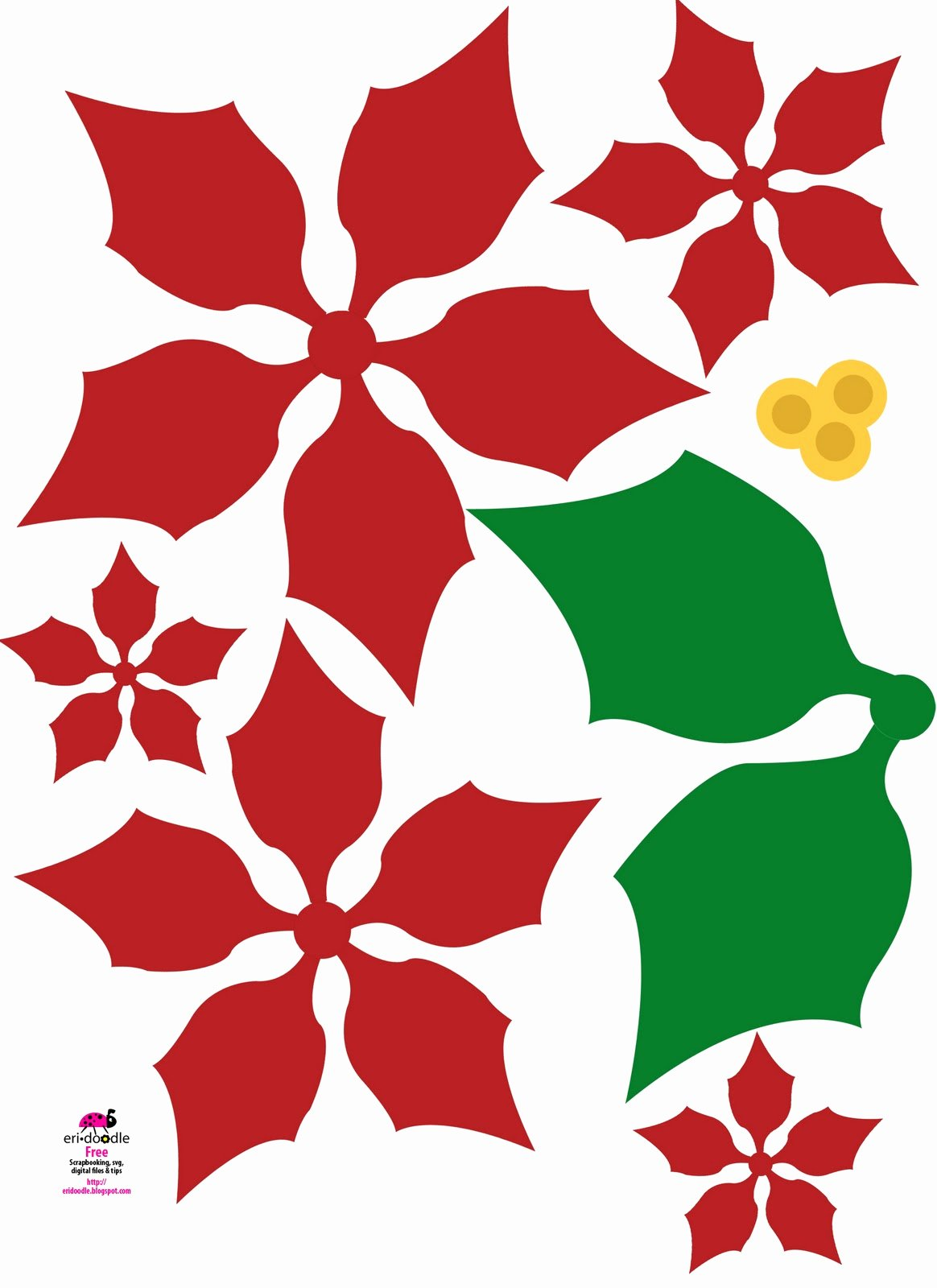 Free Printable Christmas Paper Beautiful Eridoodle Designs and Creations Make A Paper Christmas Flower