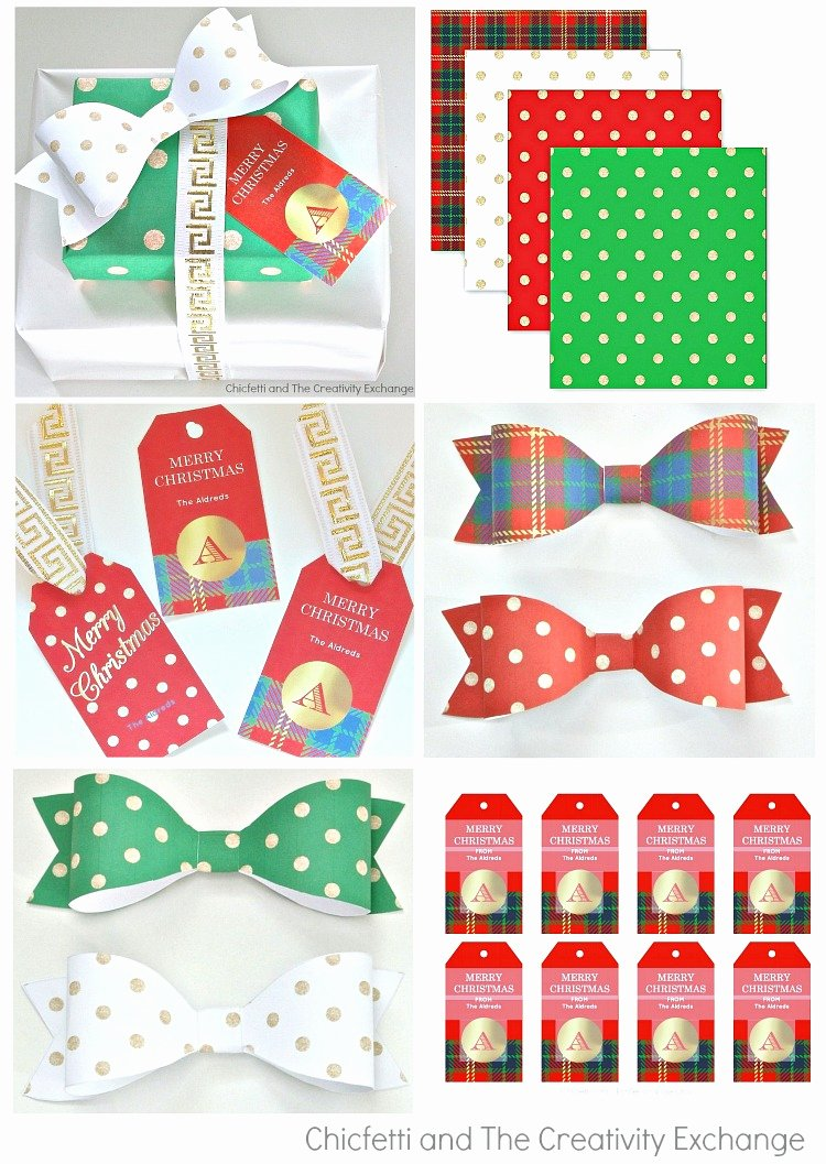Free Printable Christmas Paper Beautiful Free Christmas Printables Gift Tags Wrap Paper and Bows