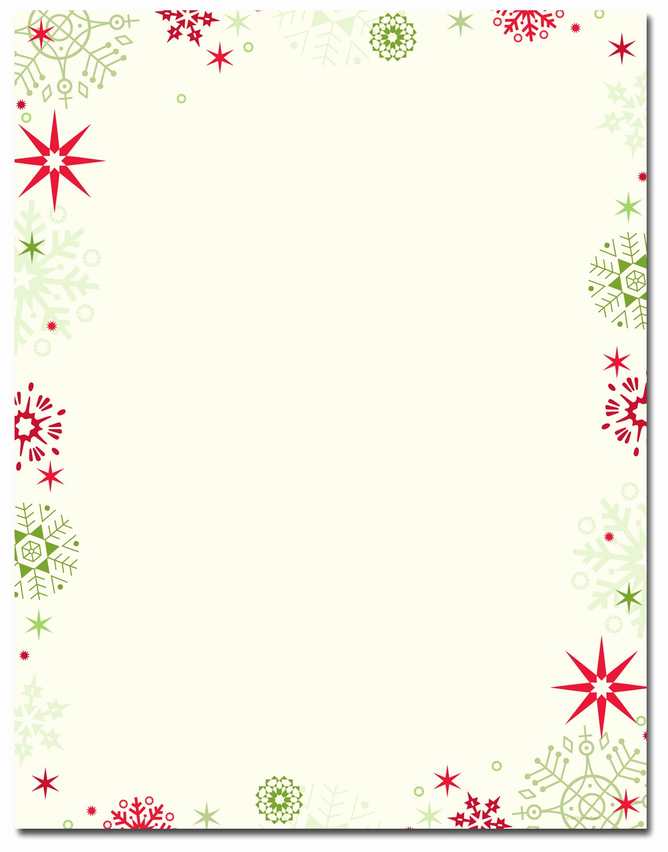 Free Printable Christmas Paper Unique Christmas Stationery Red & Green Flakes Letterhead
