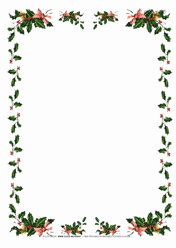 Free Printable Christmas Stationary Awesome Free Printable Christmas Stationery with Borders Of Holies 5