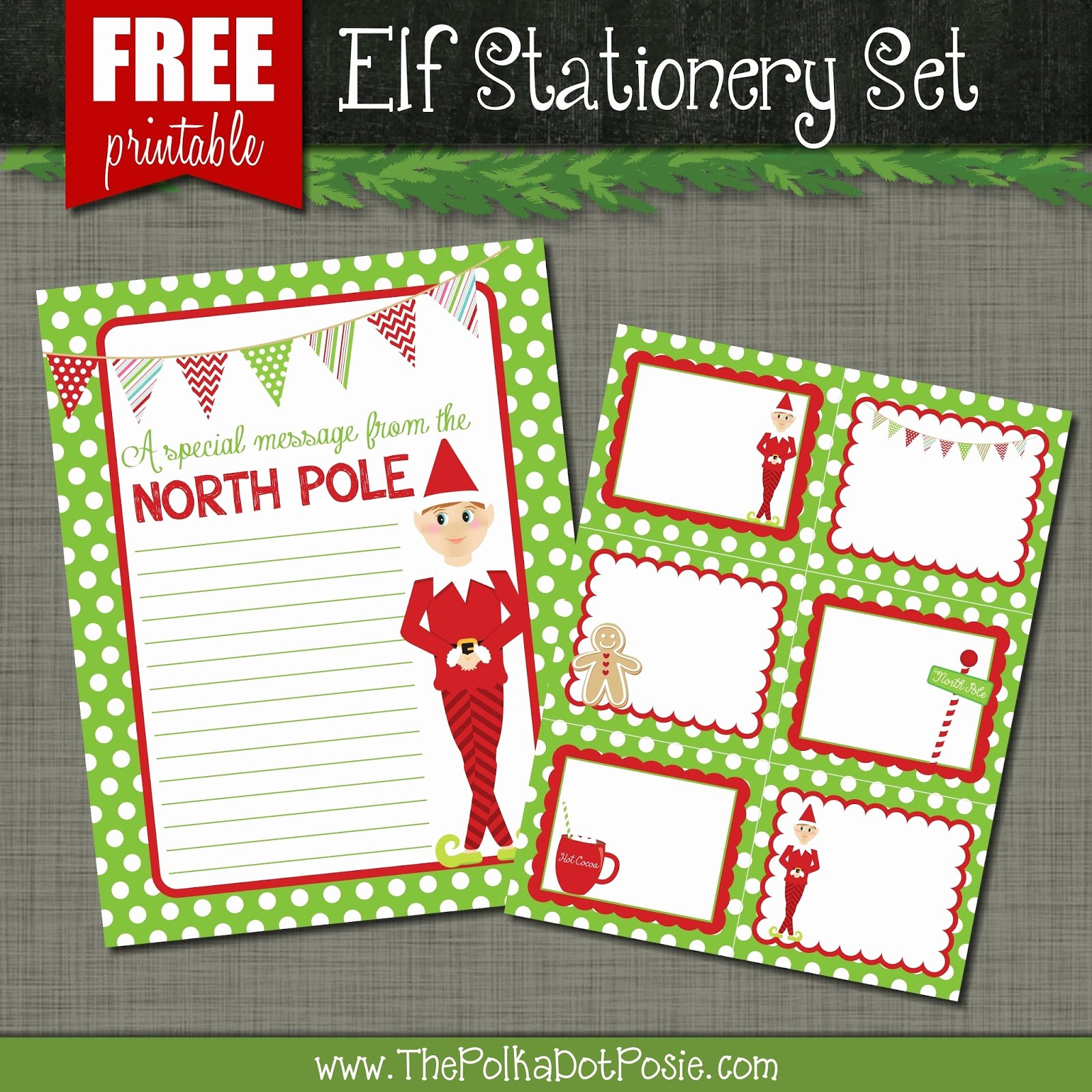 Free Printable Christmas Stationary Beautiful the Polka Dot Posie Free Printables for Your Christmas Elf