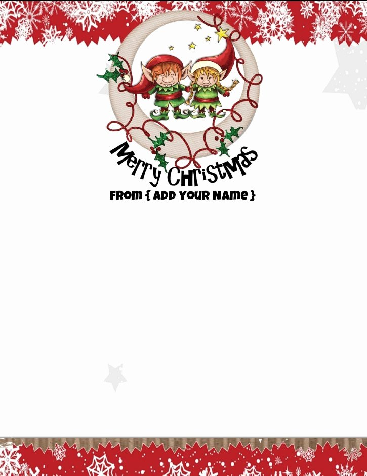 Free Printable Christmas Stationary Elegant Free Personalized Christmas Stationery