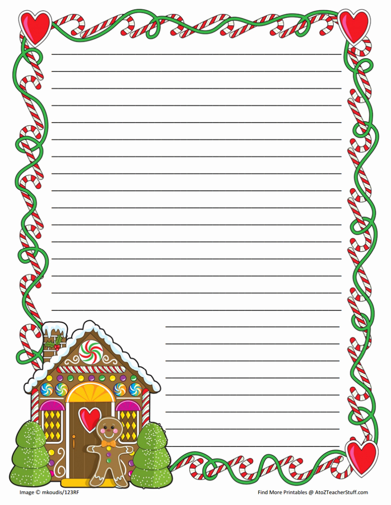 Free Printable Christmas Stationary Luxury Gingerbread Printable Border Paper with and without Lines