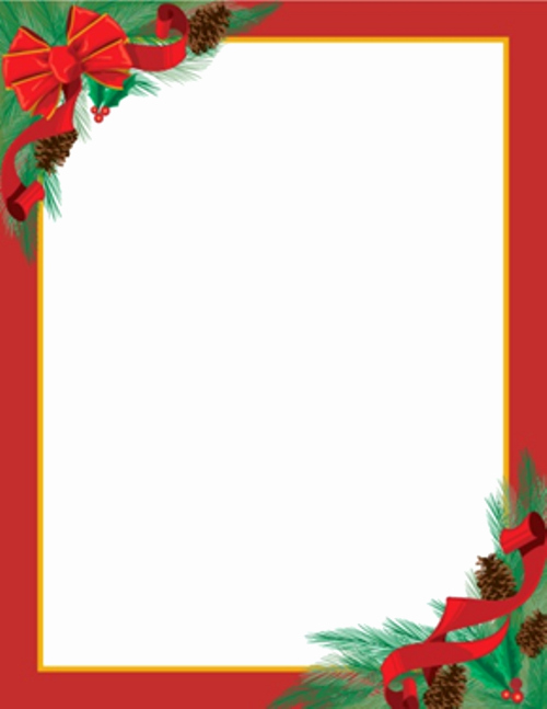 Free Printable Christmas Stationary New Christmas Letterhead On Pinterest
