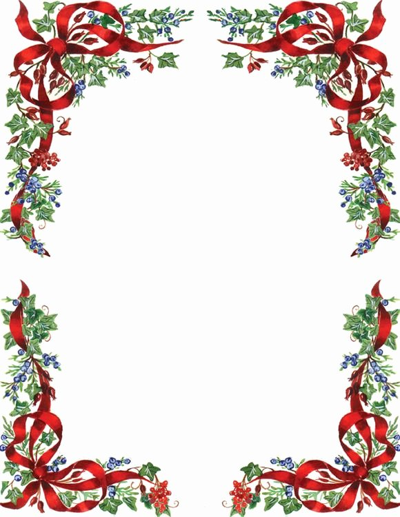 Free Printable Christmas Stationary New Ivy and Berries Christmas Letterhead Geographics 8 5x11