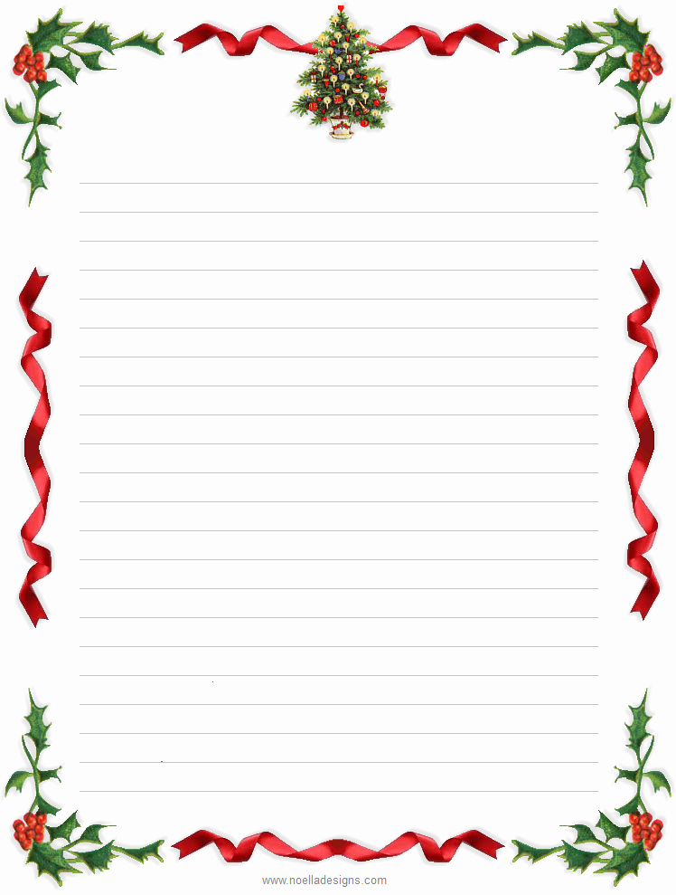 Free Printable Christmas Stationary New Lined Stationery 4 Glenn and Masako