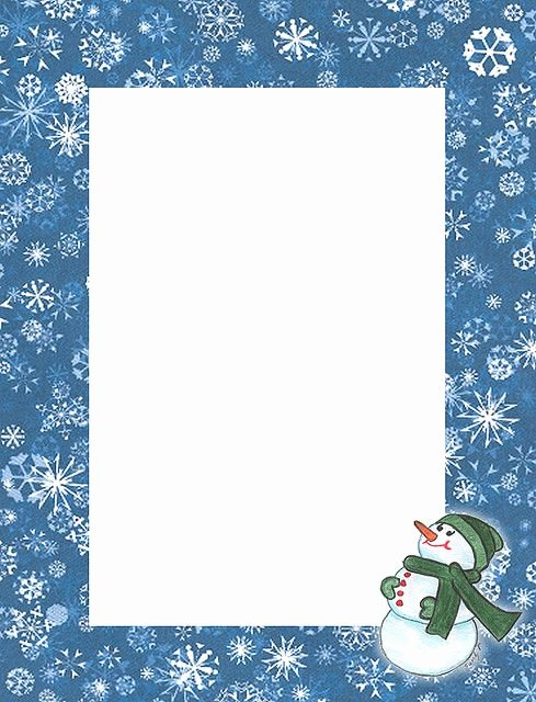 Free Printable Christmas Stationary New Snowman Looking Up Stationery Cross Stitch