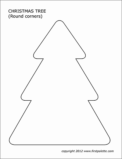 Free Printable Christmas Tree Template Beautiful Christmas Tree Templates