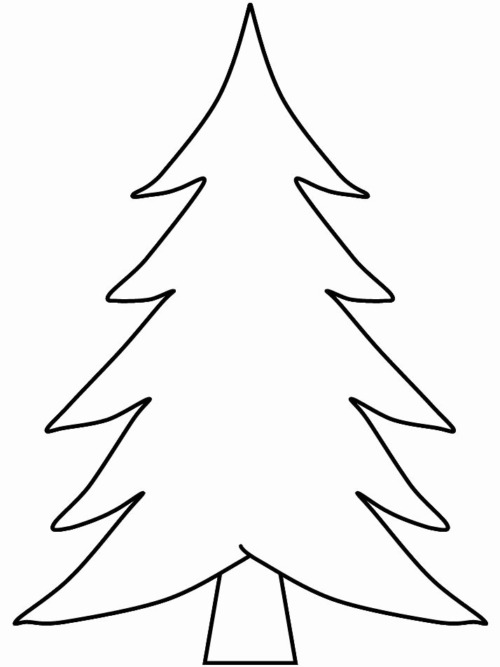 Free Printable Christmas Tree Template Beautiful Pix for Blank Christmas Tree Coloring