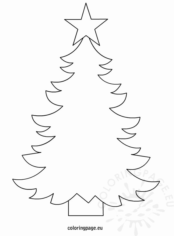 Free Printable Christmas Tree Template Inspirational Christmas Tree Template to Print – Coloring Page
