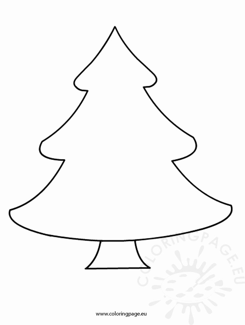Free Printable Christmas Tree Template Inspirational Free Christmas Tree Template – Coloring Page