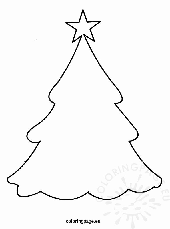 Free Printable Christmas Tree Template Luxury Christmas Tree Template – Coloring Page