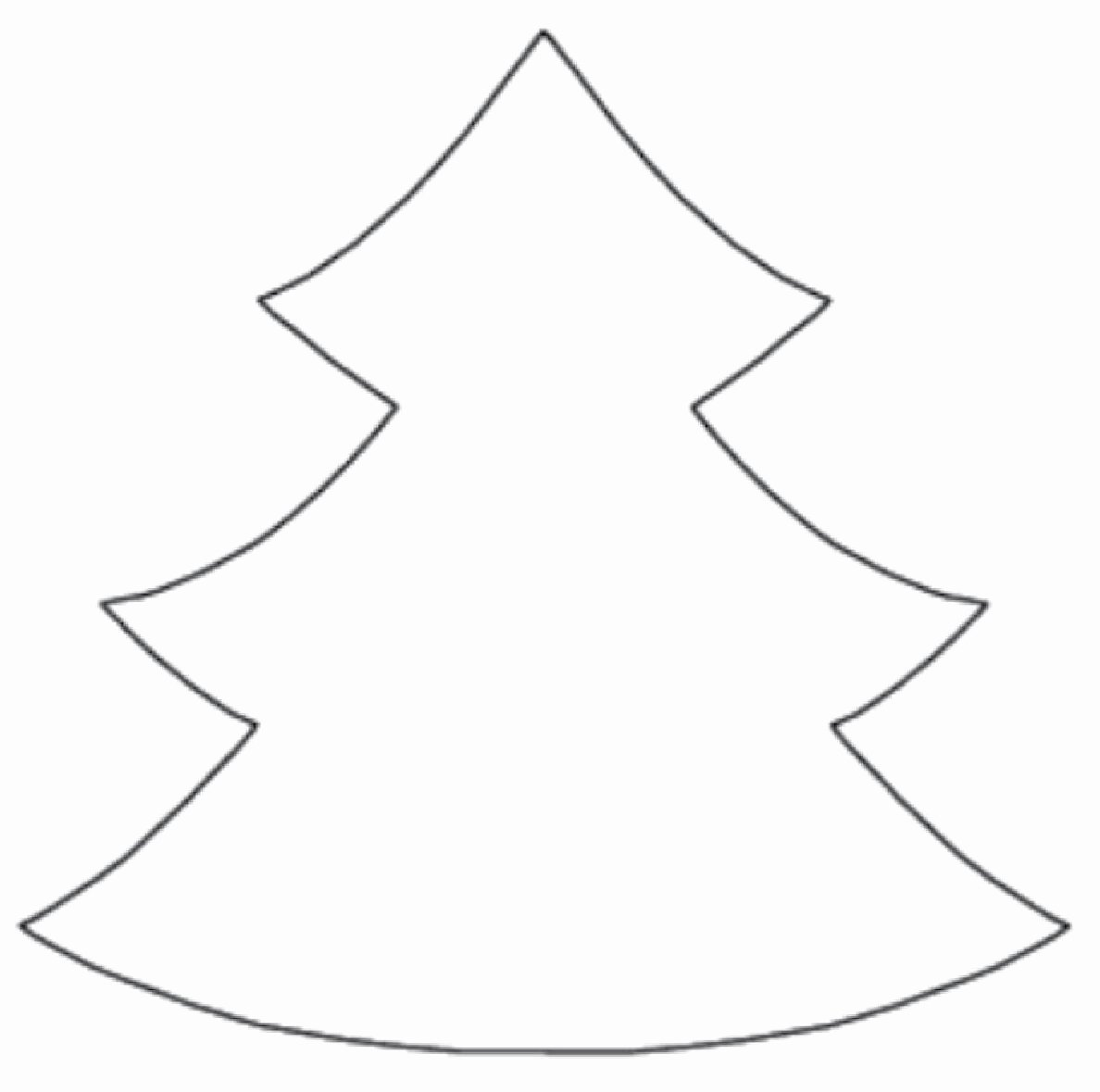 Free Printable Christmas Tree Template New Christmas Tree Cut Out Template