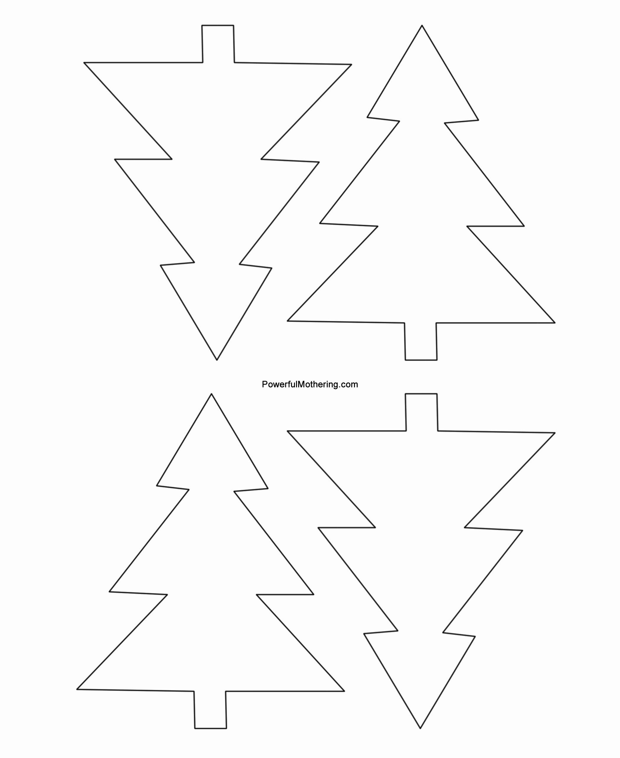 Free Printable Christmas Tree Template New Gingerbread Men Christmas Tree and Star Printables