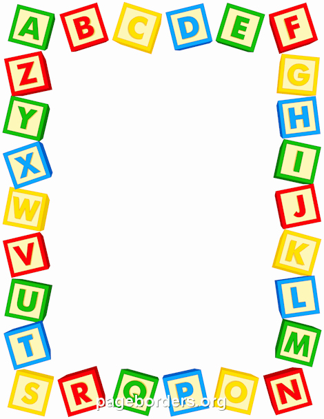 Free Printable Clip Art Letters Beautiful Alphabet Blocks Border Yaniry Pinterest