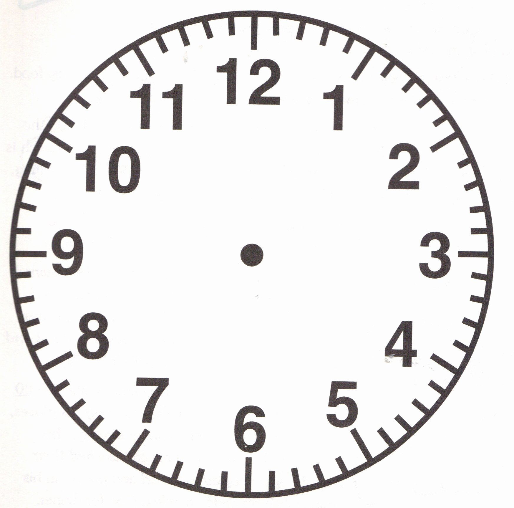 Free Printable Clock Faces Beautiful Free Printable Clock Face Clipart Best