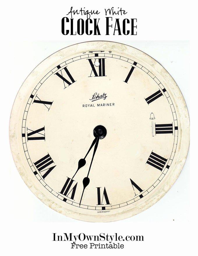 Free Printable Clock Faces Elegant Clock Wreath & Free Printables