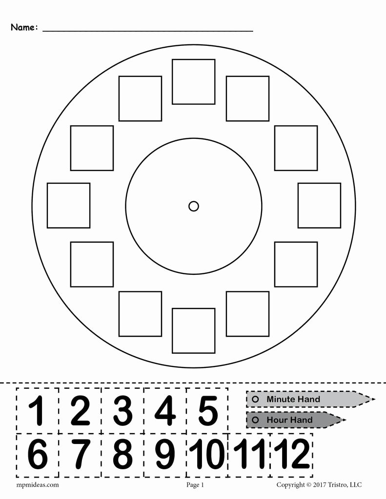 "Free Printable Clock Template Beautiful Free Printable ""build A Clock"" Telling Time Activity"