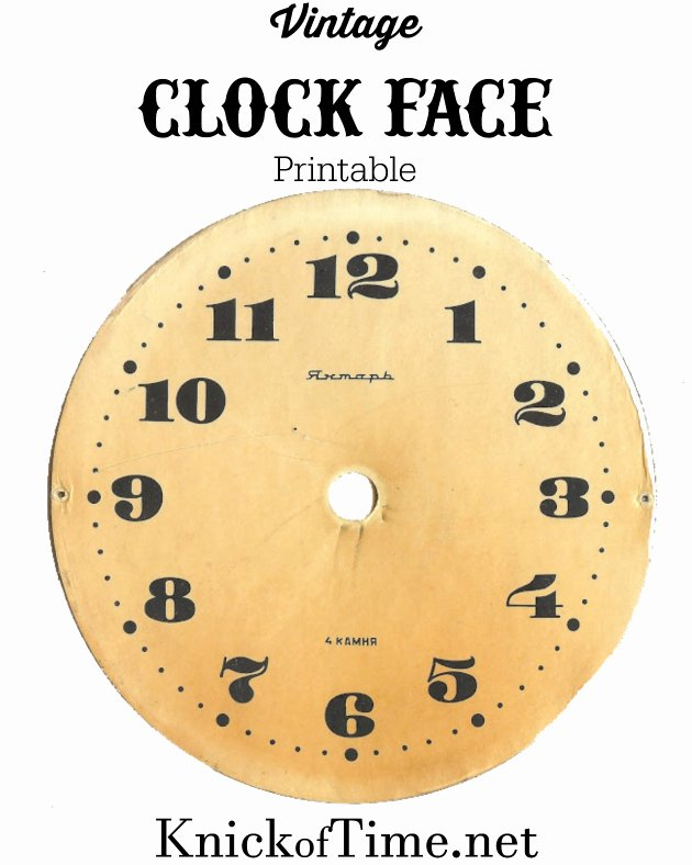 Free Printable Clock Template Best Of Antique Graphics Wednesday Clock Faces Knick Of Time