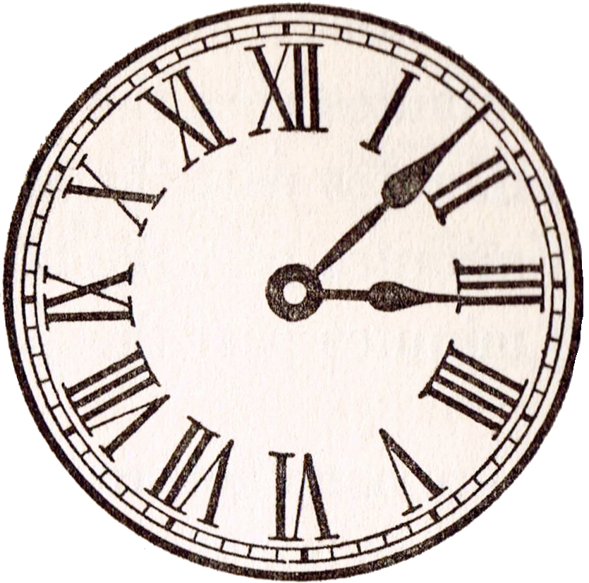 Free Printable Clock Template Elegant Antique Clock Face Graphics From School Book