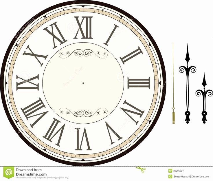 Free Printable Clock Template Fresh Best 25 Clock Face Printable Ideas On Pinterest
