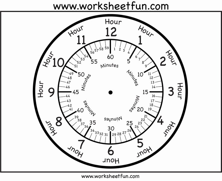 Free Printable Clock Template Fresh Clock Face with Minutes