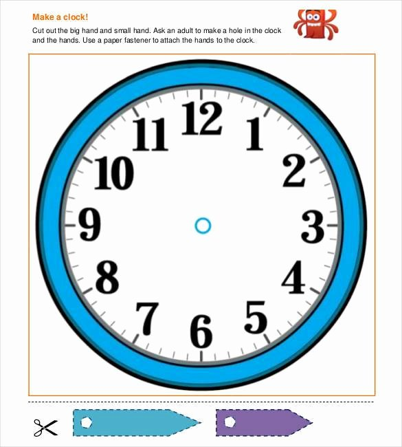 Free Printable Clock Template Luxury 17 Printable Clock Templates Pdf Doc
