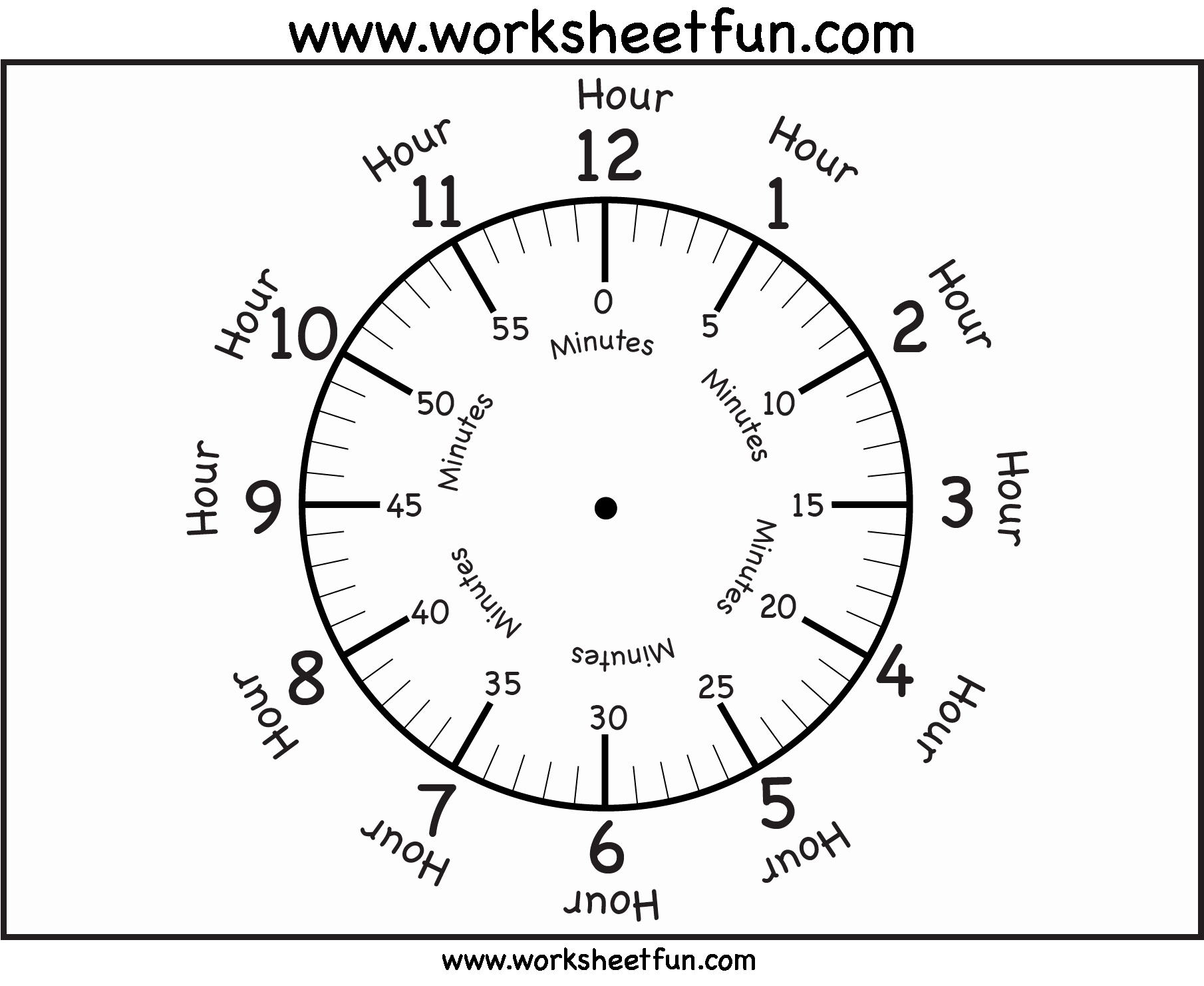 Free Printable Clock Template Luxury Time – Printable Clock Face – 4 Worksheets Free