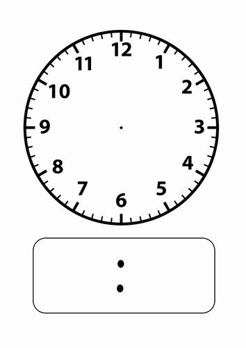 Free Printable Clock Template New Blank Clock Faces by Stevm117 Teaching Resources Tes