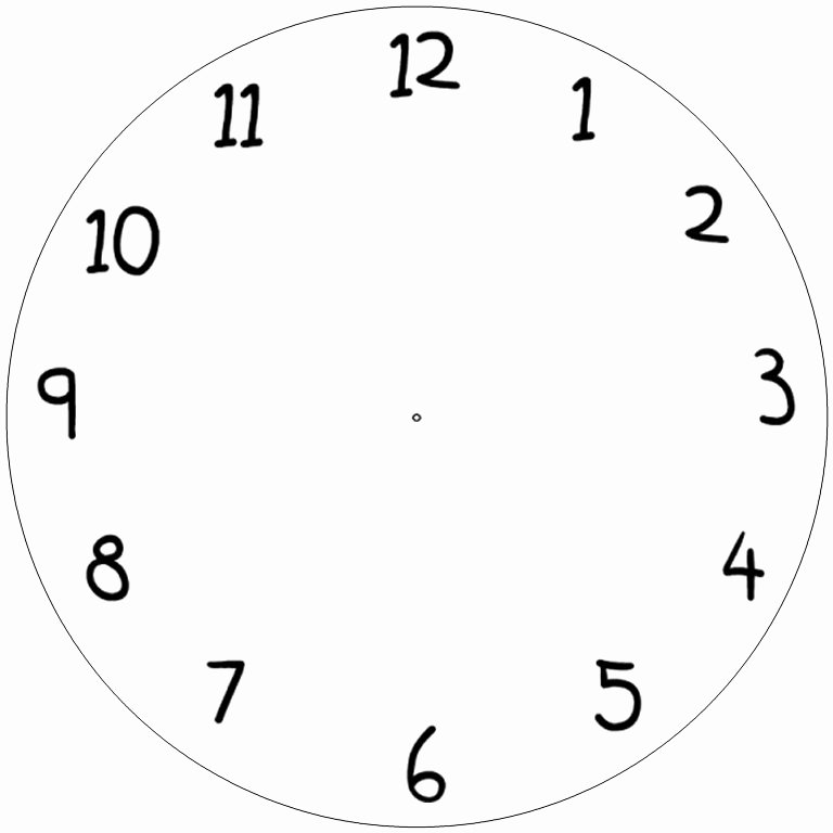 Free Printable Clock Template Unique Free Blank Clock Face Printable Download Free Clip Art