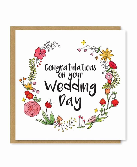 Free Printable Congratulations Cards Beautiful Congratulations On Your Wedding Day A Beautiful Floral