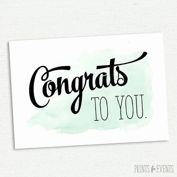 Free Printable Congratulations Cards Best Of Printable Congratulations Card Graduation Card Mint and
