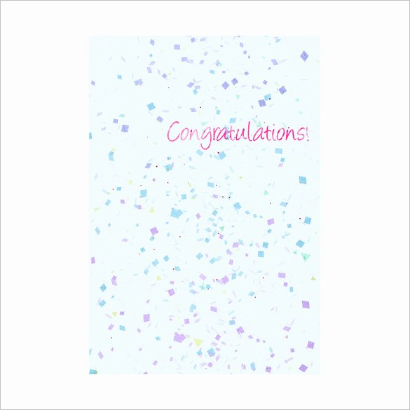 Free Printable Congratulations Cards Lovely Congratulations Card Template 20 Free Sample Example