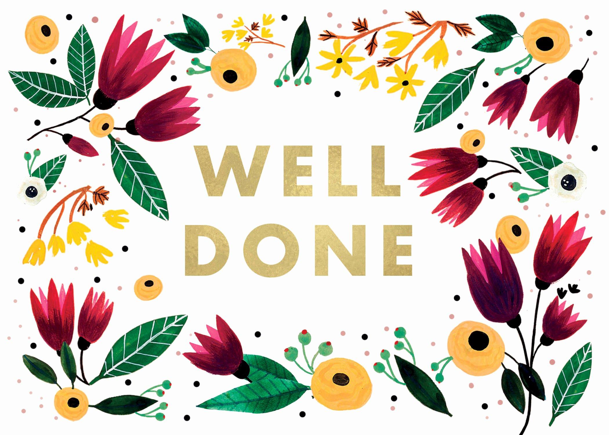 Free Printable Congratulations Cards Unique Well Done Congratulations Card Free