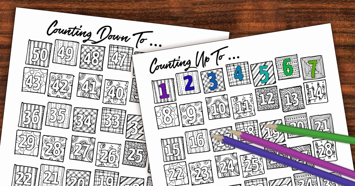 Free Printable Countdown Calendar Beautiful Free Printable Color In Countdown Fb Moms and Crafters
