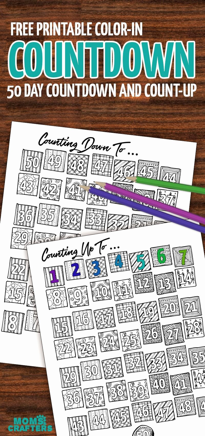 Free Printable Countdown Calendar Best Of Grab This Fun Color In Countdown and Progress Tracker